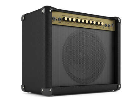 overdrive: Electric guitar amplifier Stock Photo