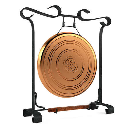Cooper gold gong isolated photo