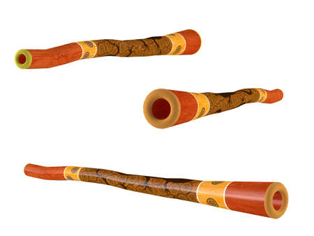 Didgeridoo isolated. Multiple angles of view photo