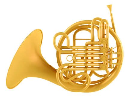 french horn: Double French Horn isolated