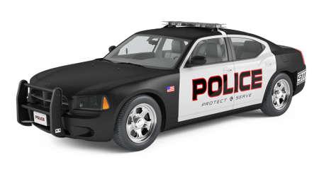 警察の車。スポーツとモダンなスタイル。 写真素材