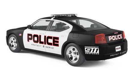 Police car. Sport and modern style. Stock Photo