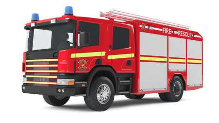 camion pompier: camion d'incendie isol�s Banque d'images