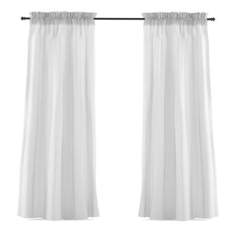 White grey curtain isolated