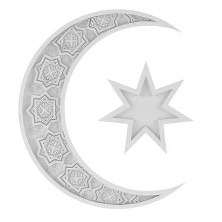 surround: Surround Islamic symbol at the white background