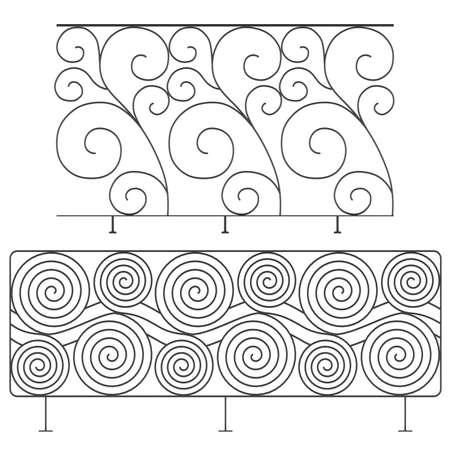 Wrought iron railings photo