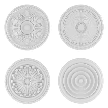 Classical architecture elements. Ceiling plates Banco de Imagens - 24818770