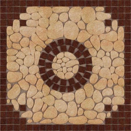 Stone floor pattern tiles Banco de Imagens