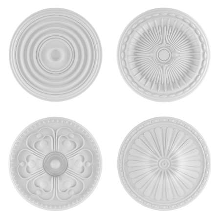Classical architecture elements. Ceiling plates Stock Photo