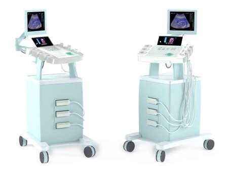 Échographie médicale appareil de diagnostic isolé au blanc