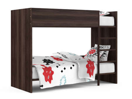 Bunk bed isolated at the white background Banco de Imagens - 25824078