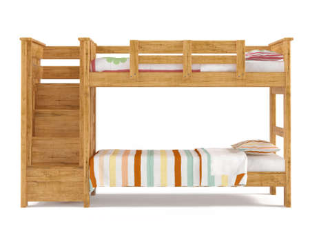 Bunk bed isolated at the white background photo