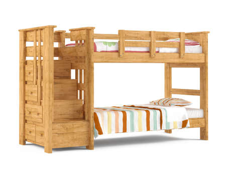 bunk: Bunk bed isolated at the white background Stock Photo