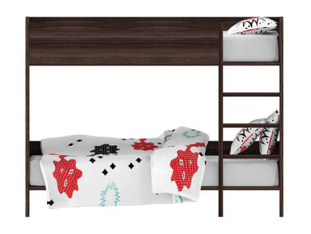 bunkbed: Bunk bed front isolated at the white background Stock Photo