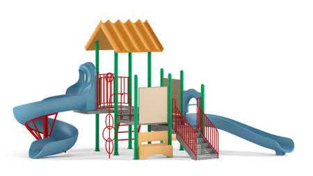 Playground isolated at the white background Banco de Imagens - 25824295