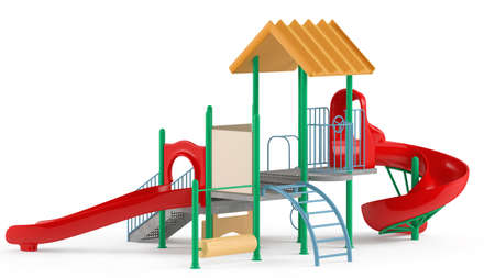 Playground isolated at the white background Banco de Imagens - 26082753