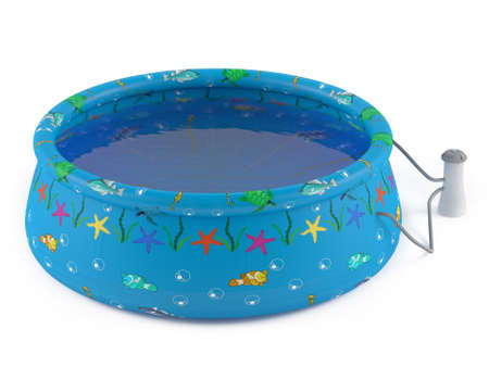 Inflatable pool isolated at the white background