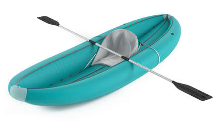 Inflatable kayak canoe isolated at the white background Reklamní fotografie