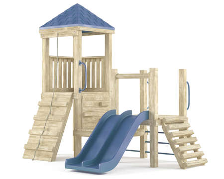 playground equipment: Playground isolated at the white background