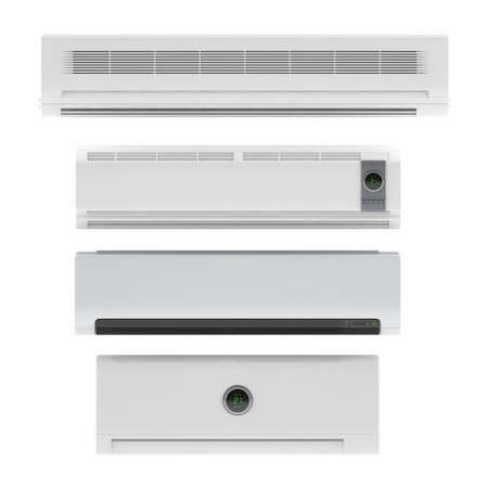 Air conditioner system isolated at the white background Banco de Imagens