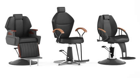 barber background: Barber chair isolated. Salon spa at the white background