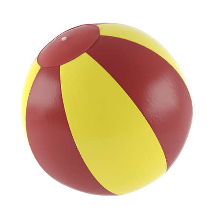 Inflatable fitness ball isolated at the white background photo