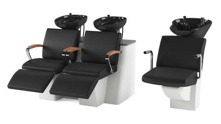 Barber chair isolated. Salon spa at the white background photo