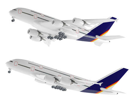 Airplane aircraft isolated on the white
