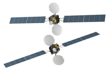 cabling: Space telecommunication satellite spacecraf