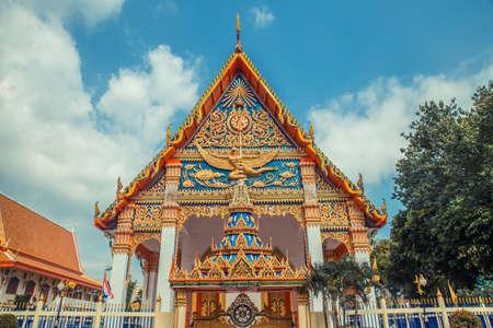Thai temple. Wat Mongkol Nimit Temple Phuket, Thailand.