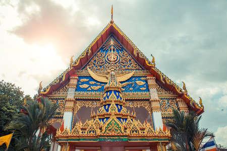 monasteri: Tempio tailandese. Wat Mongkol Nimit Tempio Phuket, Thailandia. Archivio Fotografico