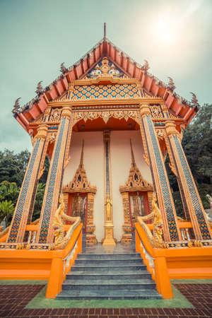 Ancient Thai temple. Wat Karon. Suwan Khiri Khet Temple Phuket, Thailand.