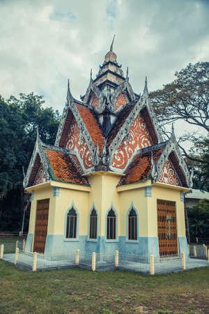 Ancient Thai temple. Wat Pa Aram Rattanaram Temple Phuket, Thailand.