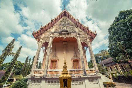 Thai temple. Wat Get Ho Temple, Anuphat Kritdaram Phuket, Thailand.
