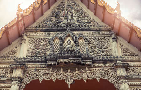 Thai facade temple. Wat Get Ho Temple, Anuphat Kritdaram Phuket, Thailand.