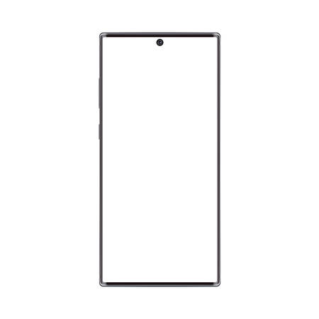 Realistic trendy frameless premium smartphone mockup with blank screen isolated. Can be use for any project presentation.