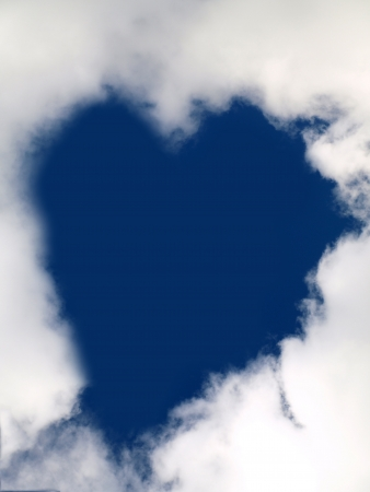 The Heart in the Sky photographed at 10/10/10 in the skies of Canada Stock Photo - 11474513