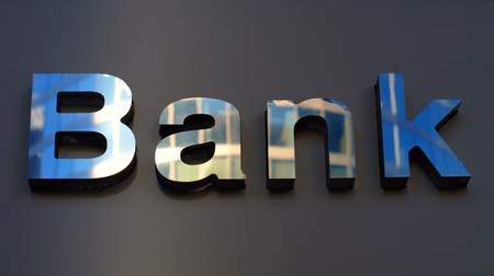 Bank corporation office sign . Stock Photo - 11569195