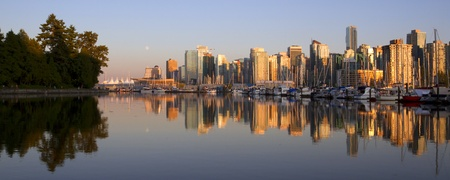 Vancouver Canada panoramic cityscape