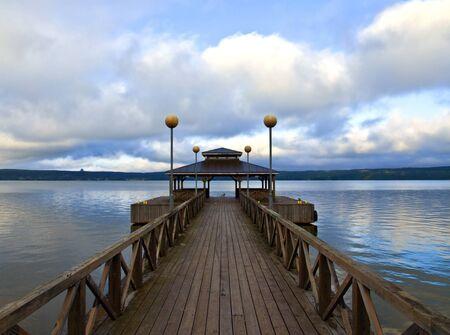 wooden dock: Wooden Pier in Finland.