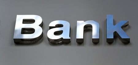Bank business corporation office sign  Stock Photo - 11784508