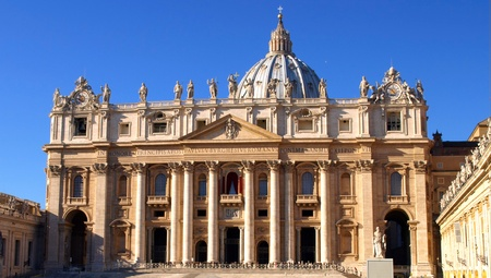 peter: Saint Peters Square in Vatican, Italy. Editorial