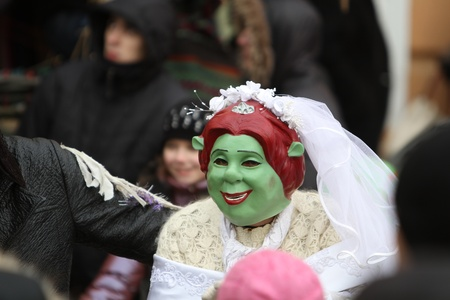 chernivtsi: Princess Fiona on Malanka Festival in Chernivtsi, Ukraine on January 15, 2012