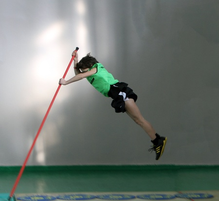 unidentified boy on IAAF Kid's Athletics competition on February 10, 2012 in Donetsk, Ukraine