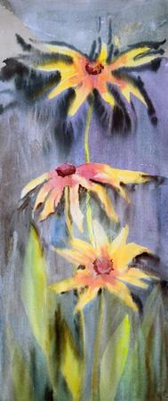 아름다운 꽃의 수채화 그림