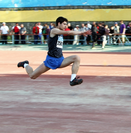 salto largo: Competencia de salto triple
