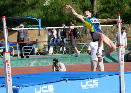 high jump: High jump competition