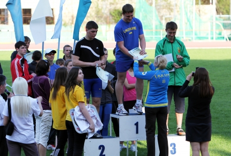 Award winners of the Ukrainian Track and Field Championships  Stock Photo - 13714389
