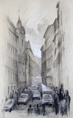 로마의 도시, 이탈리아의 거리 스톡 콘텐츠