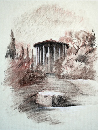Le Temple de Vesta � Rome, Italie photo